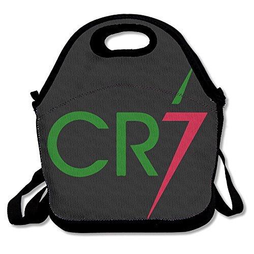 dsybtv bolsa para el almuerzo CR7–Bolsa para el almuerzo caja de almuerzo para mujeres hombres niños con correa ajustable