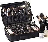 ROWNYEON Bolso de Cosméticos Portable Organizador de Maquillaje EVA/Maletín para Maquillaje (Negro Largo)