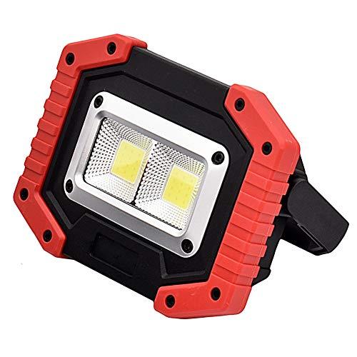 Preisvergleich Produktbild PUAO Cob Außen Arbeitslampe,  Tragbare LED Arbeitsleuchte Baustrahler Doppel-USB-Port
