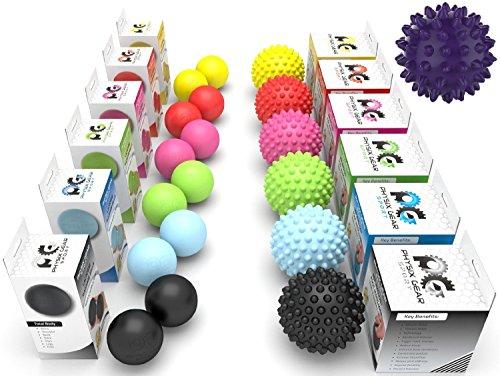 lacrosse balls & spiky-rullo per massaggi, ad alta densità, profondo acupressure ebook-il rilassamento miofasciale-trigger point-fascite plantare-massaggiatore piedi anti-stress muscolare, terapia