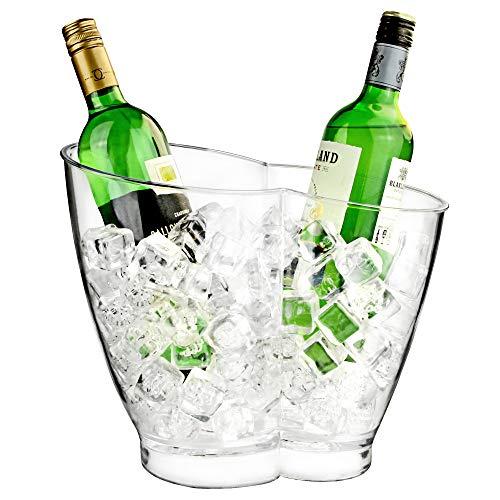 Doppel-Getränkekühler, Wein- und Sektkühler aus Kunststoff für 2Flaschen