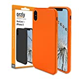 Coque iPhone X ORANGE, Orzly Coque FlexiCase pour Apple iPhone X / iPhone 10 - Coque Souple Haute Qualité en ORANGE Mate-Brillant