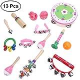 YeahiBaby 13 Stücke Todder Musikinstrumente Percussion Spielzeug Rhythmus Band Vorschul Educational Musical Spielzeug (Assorted Girl Style)