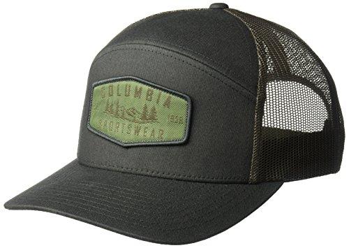 Columbia Herren Trail Evolution Kappe, Größenverstellbar, Einheitsgröße, dunkelgrün (shark hex patch), CU0024 (Columbia Sportliche Kappe)