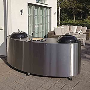 lidab grillger t triple kitchen mit gas und kohlegrill waschbecke umrandung edelstahlblech. Black Bedroom Furniture Sets. Home Design Ideas