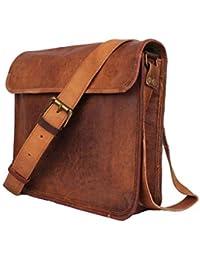 Anshika International Vintage Handmade 100% Genuine Leather Messenger Bag/Office Bag/Laptop Bag (Light Brown)