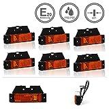 LED-MARTIN® 6er Sparset SU5 Umrissleuchte - inkl. Halter - gelb/orange - zugelassen für den Straßenverkehr (E-Zeichen eingeprägt) - Begrenzungsleuchte - Positionsleuchte - LKW - Auflieger - Anhänger