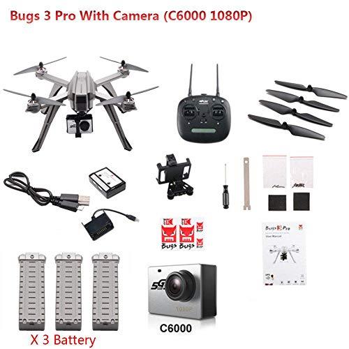 Drone RC, MJX Bugs 3 Pro B3PRO Droni Control Quadcopter Control remoto sin escobillas 1080P 5G WIFI Drone Quadcopter Control remoto con Altura de retención