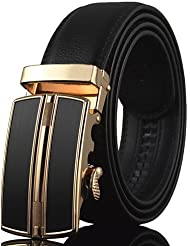 AQAQ Hombre Cuero Cinturón Ancho Fiesta / Trabajo / Casual Todas Las Temporadas , Gold , One-Size