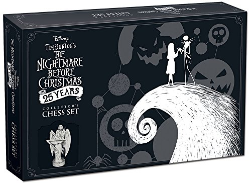 USAopoly USOCH004261 The Nightmare Before Christmas Schach-Set, 25 Jahre -