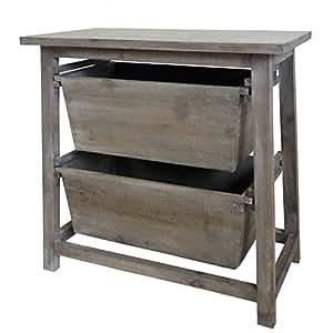 meuble de rangement table de nuit 2 tiroirs range fruits. Black Bedroom Furniture Sets. Home Design Ideas