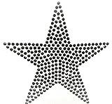 7fd8429ec547f Bügel-Strass Iron on Strass Stern Aufnäher Patches Bügelbilder Sticker  Applikation Aufbügler Strass groß zum aufbügeln STERN 11 X 11 CM SCHWARZ  waschbare ...