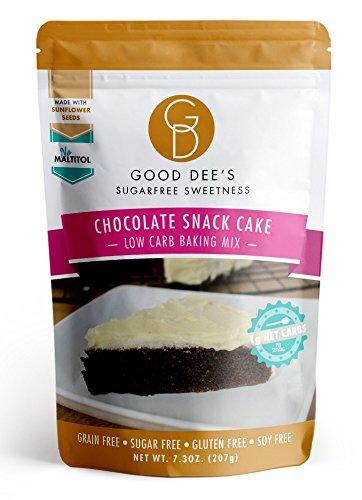 x Schokoladen-Snack-Kuchen-Mix - Low-Carb, Zuckerfrei, Getreidefrei, Glutenfrei, keine Mutter-Inhaltsstoffe, Soja-frei, 1g Net Carb pro Stück! ()