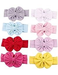 Tenxin Lovely Angel Girl Baby Hair Band Diademas con cuentas de flores pañuelo en la cabeza (embalado con 7 unids)