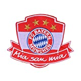 FC Bayern München Aufnäher Mia san mia - plus gratis Aufkleber forever München