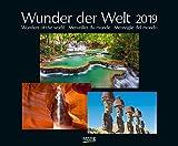 Wunder der Welt 2019: Großer Wandkalender über die Landschaft und Wahrzeichen der Erde. PhotoArt Kalender mit edlem schwarzem Hintergrund. 55 x 45,5 cm