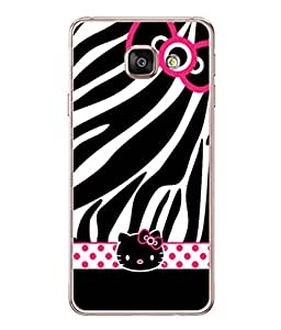 PrintVisa Designer Back Case Cover for Samsung Galaxy A3 (6) 2016 :: Samsung Galaxy A3 2016 Duos :: Samsung Galaxy A3 2016 A310F A310M A310Y :: Samsung Galaxy A3 A310 2016 Edition (Polka Dots Kitty Cat Bow )
