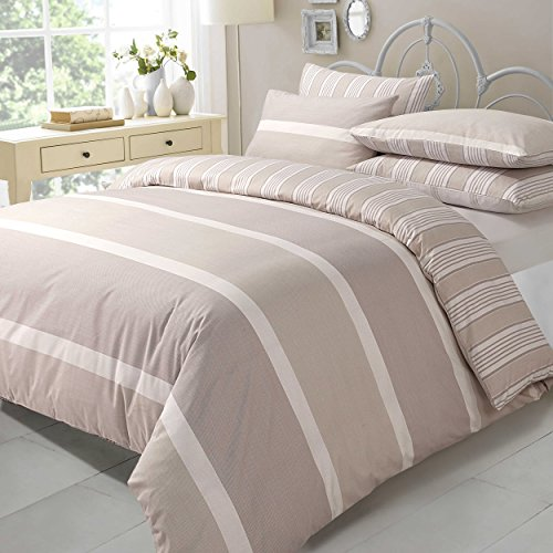 Textile Online Novelty Duvet Cover with Pillow Case Bedding Poly-Cotton Quilt Cover Natural Eve (Single) by TTO (Cotton Quilt Fabric Stripe)