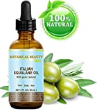 Huile de squalane italienne 100% pure / naturelle / non diluée - Hydratant ultra-pur pour visage, corps & cheveux - Protection soin de la peau efficace 24/7 - 60ml