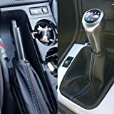 LIJUMN 2 Unids/Set Modificación del Coche Freno De Mano Gaiter/Shift Boot Funda