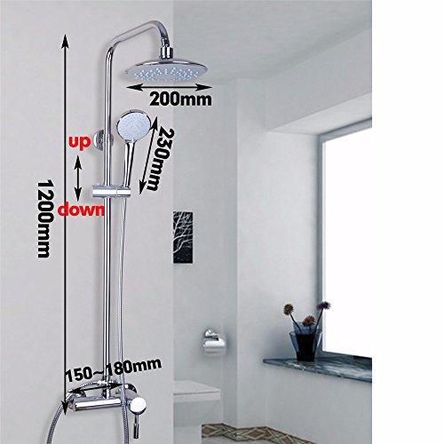 Makej Wandhalterung Messing Wasserfall Spray Kalt/Warm Mixer Wasserhahn Armatur Chrom Poliert