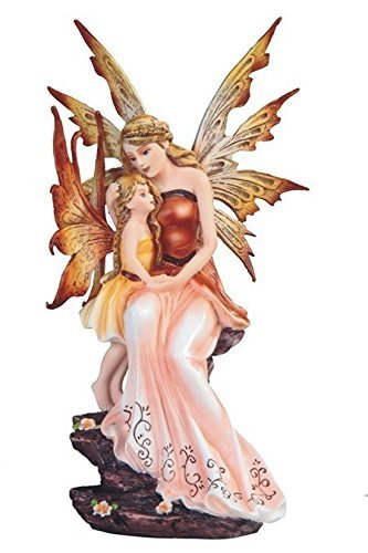 StealStreet SS-G-91847 Peach Fairy Sitting with Baby Girl Statue Figurine, 8.75 by StealStreet