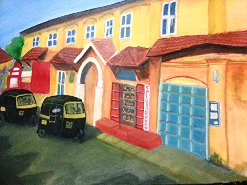 Kochi Spice market (Watercolor Painting by Vivek Anand)