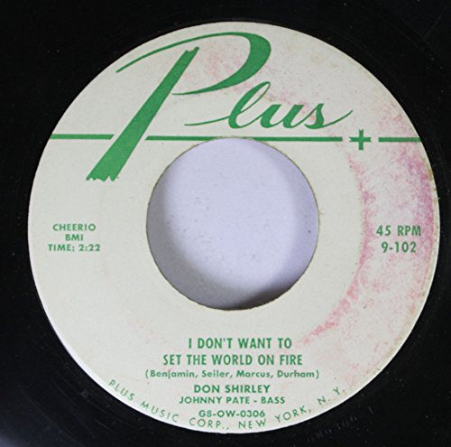 Don Shirley 45 RPM I Don't Want to Set the World on for sale  Delivered anywhere in Ireland