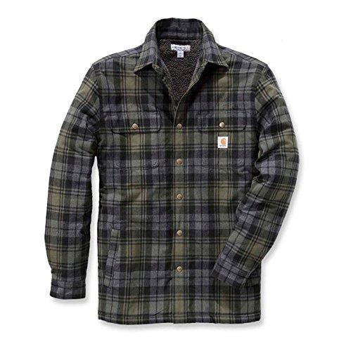 Carhartt 102333 Hubbard Shirt Jacket XXL Moss Fleece-nylon-parka