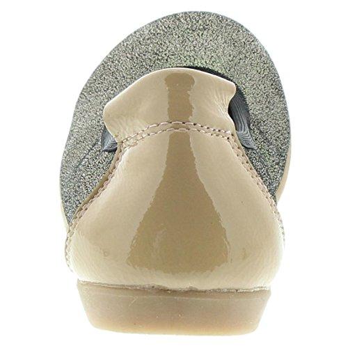 EnFant Mädchen Kinder Ballerinas, Leder, Braun Glitzer, Ballerinas, 815153 55 Zartrosa