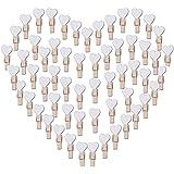 100PCS Blancs Coeur Mini Pinces à Linge Coloré en Bois Clothespin Epingle à Linge Clips Photos pour DIY Décoration