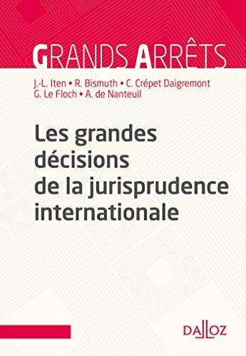 Les grandes décisions de la jurisprudence internationale (Grands arrêts) par Jean-Louis Iten