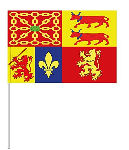 Eurodrapeau Drapeau Pyrénées-Atlantiques, Polyester, Quadri, 120 x 80 x 5 cm