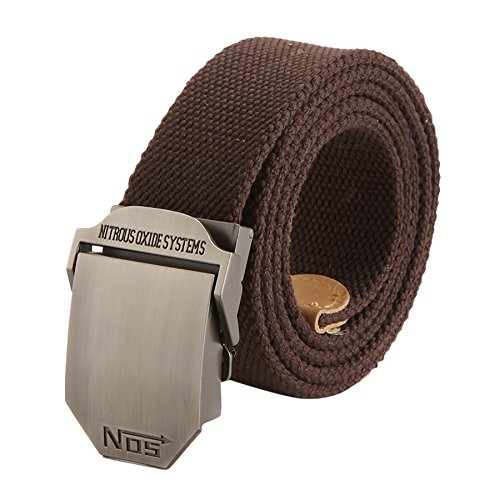 menschwear-mens-adjustable-cotton-canvas-belt-metal-buckle-military-style-brown