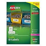Avery Langlebig weiß Cover Up ID Etiketten für Laserdrucker, 1,7x 4,4cm 3000Stück (61533)
