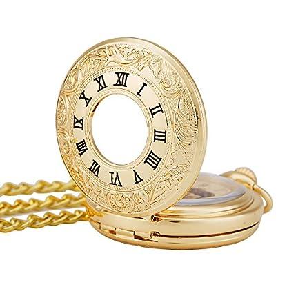 TREEWETO-Retro-Golden-Mechanische-Taschenuhr-glnzend-doppelt-ffnen-Design-Skelett-goldene-Rmische-Ziffern-Taschenuhren-mit-kette-und-Geschenkbox