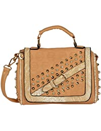 Lavu&me Women's Satchel,girls Sling Bag &cross Body Bag ,handbag (Beige,Beige Casual Slingbag LE084B)