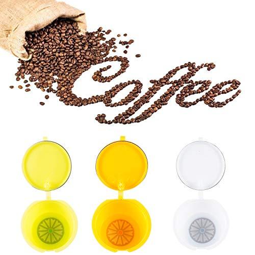 3er Wiederbefüllbare kaffeekapseln nespresso Kaffee Kapseln Nachfüllbar Dolce Gusto Kaffeekapsel Pod Wiederverwendbare Refill-Kapsel für Dolce Gusto Nespresso -