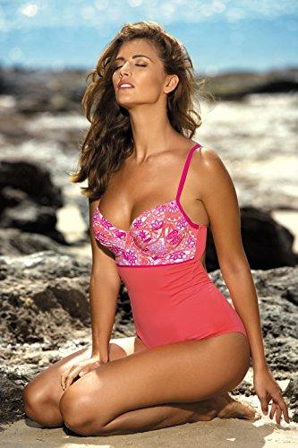 Feba Donna Modellante Corpo Costume da Bagno F26 Motivo-310
