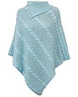 Damen Poncho Pullover Gestrickt Umhang Sweater Top Winter Schal UN2
