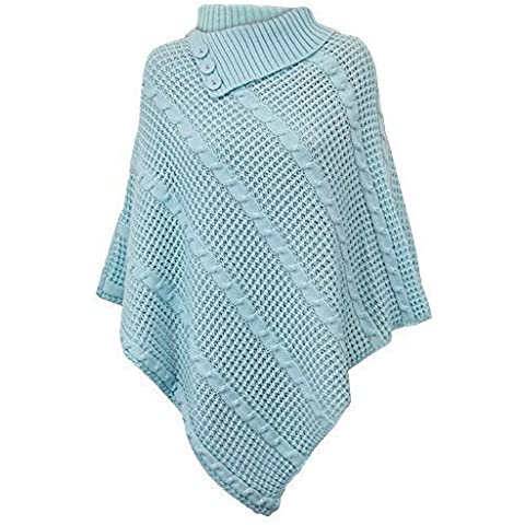 Mujer Poncho Jersey Mujer Punto Capa Suéter jersey Chal Invierno UN2