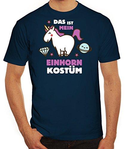 Fasching Karneval Herren T-Shirt mit Das ist mein Einhorn Kostüm 2 Motiv von ShirtStreet, Größe: (Ideen Karneval Kostüm Männer Für)
