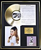 ARIANA GRANDE CD GOLD DISC UND PHOTO UND SONG SHEET DISPLAY/LIMITIERTE AUFLAGE/COA/ALBUM, MY EVERYTHING /SONG SHEET, ONE LAST TIME