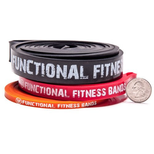 Functional Fitness Pull up Band Set - #1, #2, #3 - 5 - 100 lbs (2 - 45 kg)