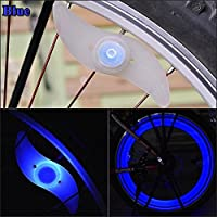 E-PRANCE Hot sale Double faced bicycle spoke light wind fire wheels silica gel spoke light steel wire lamp mountain bike wheel light,blue