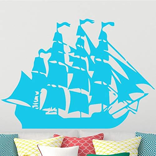 Tianpengyuanshuai Cartoon Piratenschiff leinwand wandaufkleber kinderzimmer Junge abnehmbare Vinyl PVC Applique DIY künstler Dekoration 30 cm X 19 cm