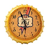 Crown Bottle Cap Retro Wanduhr Adornment Bracket Clock Silent-Wand-Dekor G