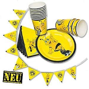 Borussia Dortmund Partyset (31-teilig) Teller / Becher / Servietten / Girlande BVB 09