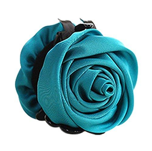 un Belles Clips Rose Fleur Cheveux Ponytail clip, bleu