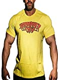 Hardgainer Crew T-Shirt Shirt Trainingsbekleidung Bodybuilding Herren Tanktops (M, 80's HGC T-Shirt)